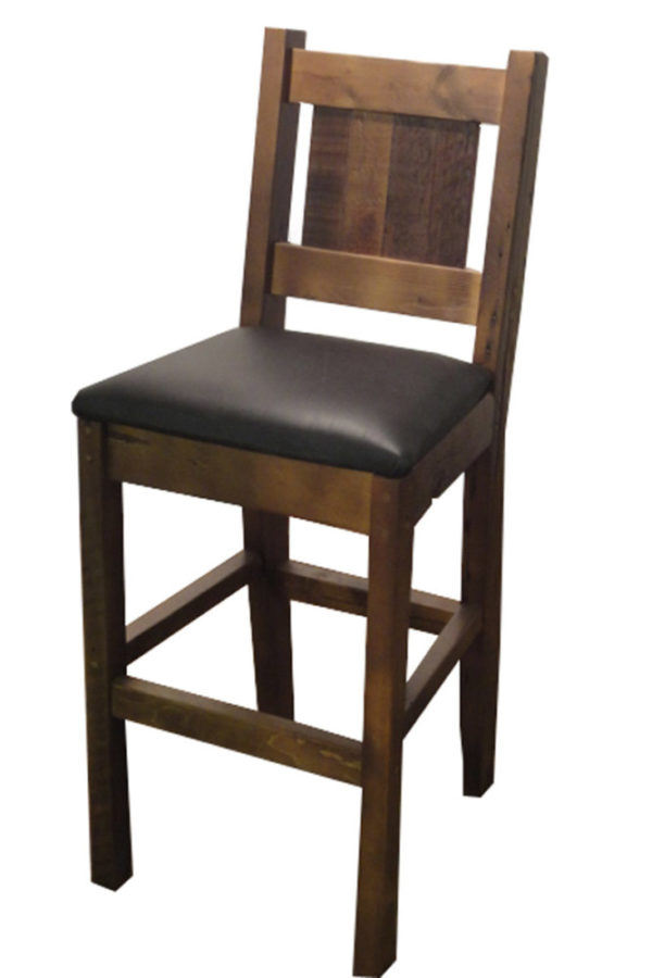 Solid wood barstools made from reclaimed rustic manitoba wood