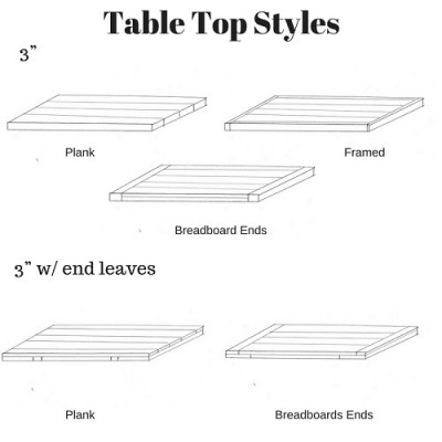 PBW 3 Inch Table Top Styles