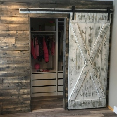 Rustic door hand crafted from reclaimed barnwood
