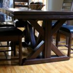 Rustic modern pedestal dining set perfect for that contemporary setting