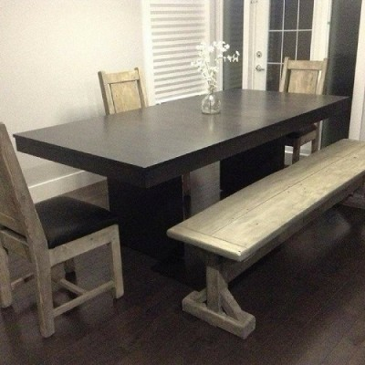 Rustic bench hand crafted from reclaimed barnwood