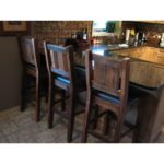 Rustic barstools hand crafted from reclaimed barnwood