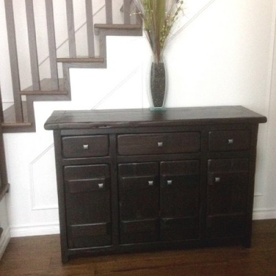 Rustic buffet hand crafted from reclaimed barnwood