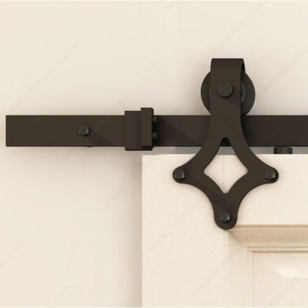 Prairie Barnwood Black Diamond Decorative Visible Rail System - Product #- 246081MATPVC (2)