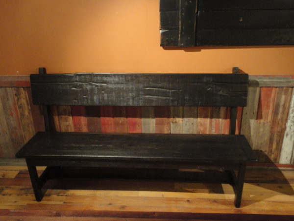 rustic solid bench hand crafted in local manitoba