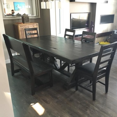 Solid Wood dining furniture set built from ontario barnwood