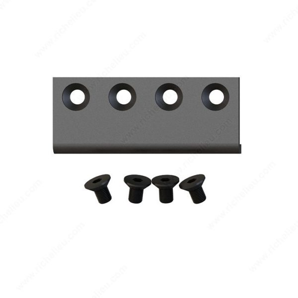 Prairie Barnwood Connector Plate for Biarting Doors - Black - Product #- 246204500226