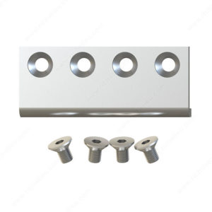 Prairie Barnwood Connector Plate for Biparting Doors - Stainless - Product #- 2462045005170