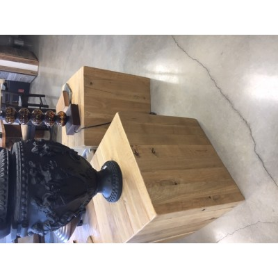 Rustic modern Oak Cube hand crafted with solid Manitoba Oak