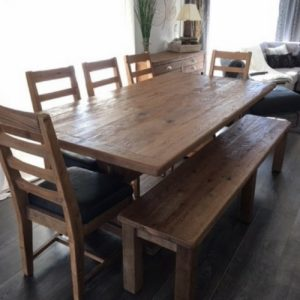 Rustic modern pedestal dining set perfect for that rustic modern design