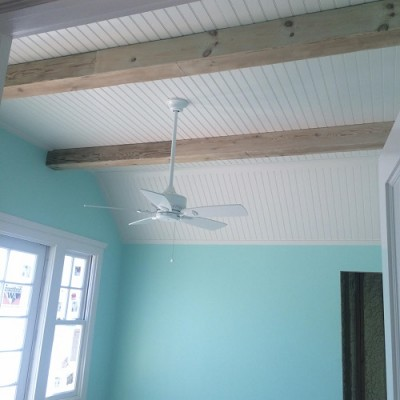 Faux Beams hand crafted from weathered barn boards