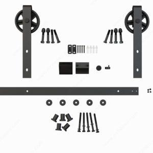 Prairie Barnwood Ferris Wheel Decorative Sliding Hardware - Black - Product #- 246020MATBC (3)