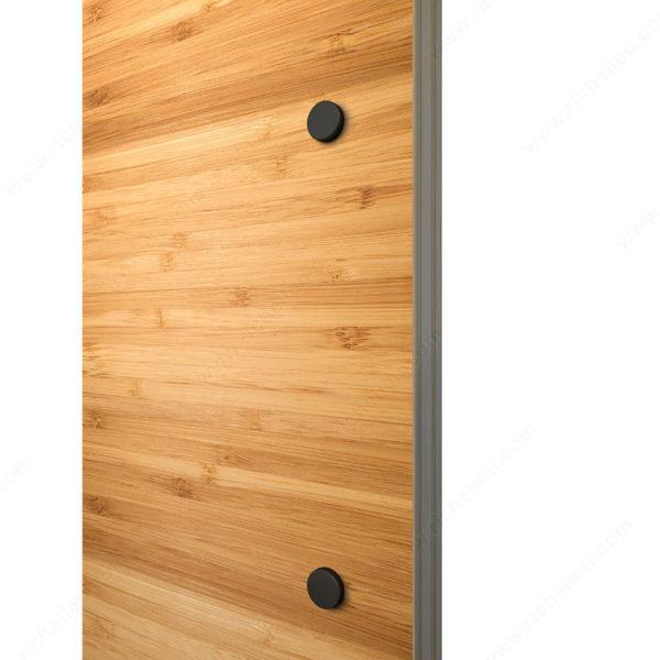 Prairie Barnwood Flat Bar Single Door Pull - One Side Mount- Black - Product #- 246207021MATBC