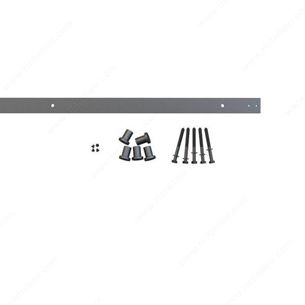Prairie Barnwood Flat Bar Track: Rail 2 M - Black - Product #- 24600190