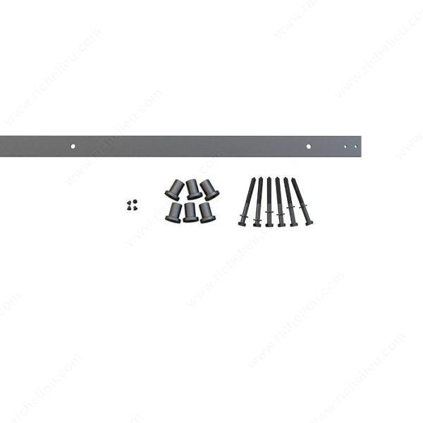 Prairie Barnwood Flat Bar Track: Rail - 2.5 M - Black - Product #- 24600290