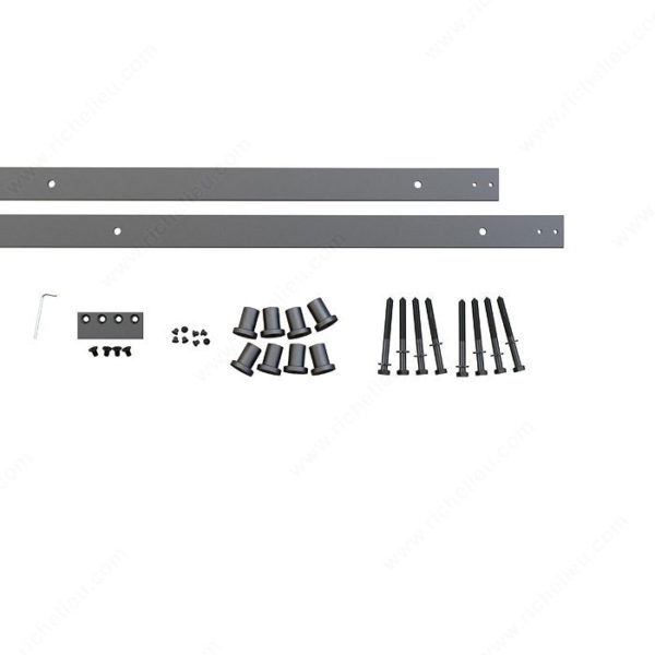 Prairie Barnwood Flat Bar Track: Rail 3M - Black - Product #- 24600390