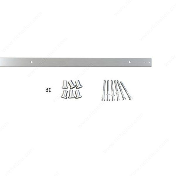 Prairie Barnwood Flat Rail 2.5 M - Stainless - Product #- 246012170