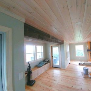 Faux Beams hand crafted from grey weathered barn boards