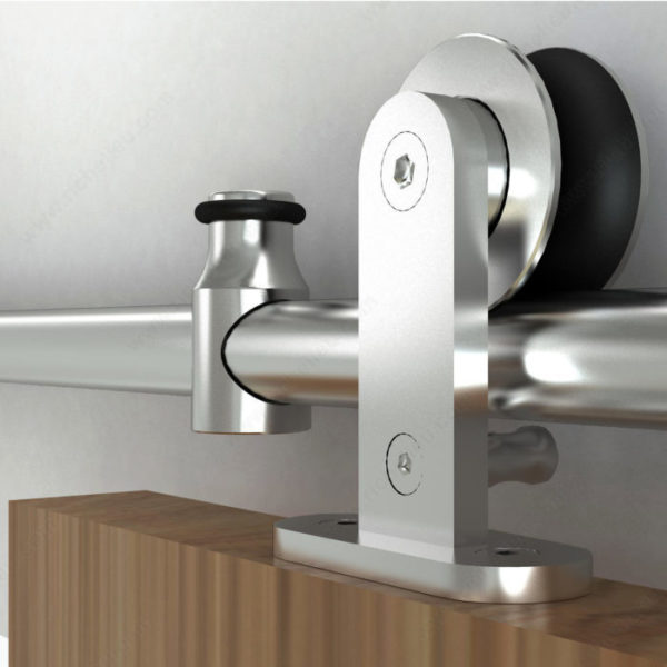 Prairie Barnwood Industrial Decorative Visible Rail System - Stainless - Product #- 2460120SSPVC
