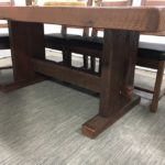 Farm House Pedestal Dining Table base named after town in Alberta