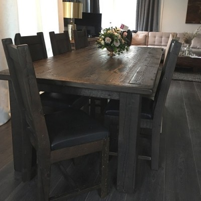 Rustic table hand crafted from reclaimed barnwood