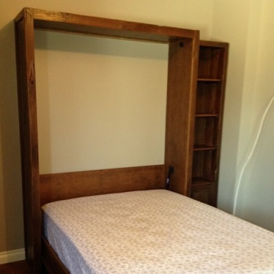 Rustic modern Murphy Bed hand crafted with reclaimed barnwood perfect for any farmhouse