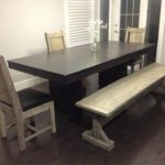 Solid wood Dining set displayed in a modern comtemporary setting
