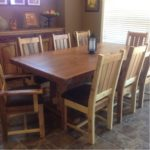 Farmhouse dining set hand crafted from reclaimed barnwood