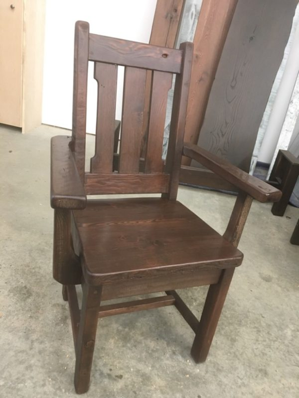 Rusitc Arm chair hand crafted with reclaimed barnwood
