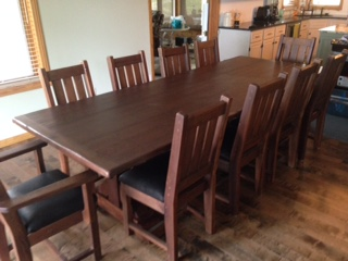 Lakehouse dining set perfect for that cozy cottage hand made with reclaimed bean timbers