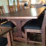 Rustic Modern table set hand crafted with reclaimed barnwood locally sourced in Ontario