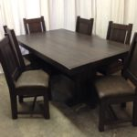 Farm House Pedestal Dining Table named after town in Alberta
