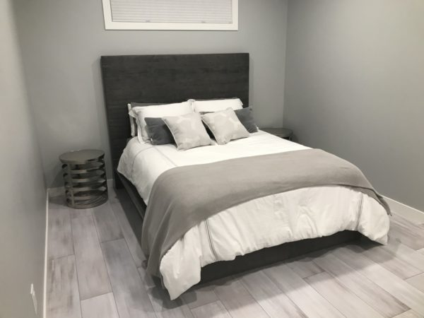 Rustic Modern bed hand crafted with reclaimed barnwood locally sourced in Ontario