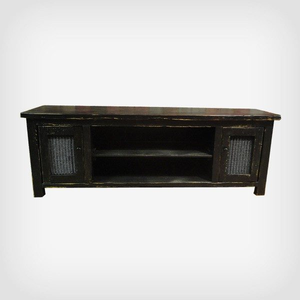 Rustic modern media center hand crafted with reclaimed barnwood perfect for any farmhouse