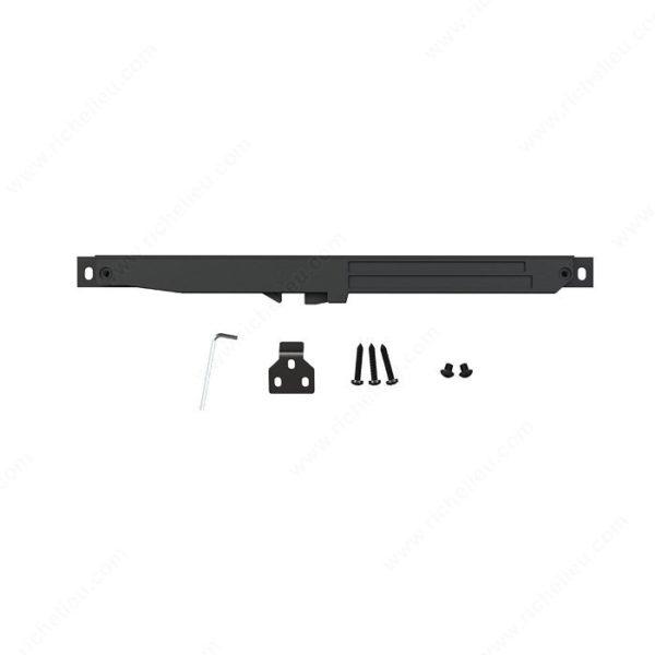 Prairie Barnwood Soft Close Mechanism for Sliding Door - Black - Product #- 24600490