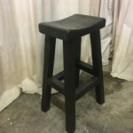Hand Made Barstools made with a solid wood saddle seat
