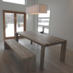 Rustic Modern Comtemporary reclaimed barnwood dining furniture