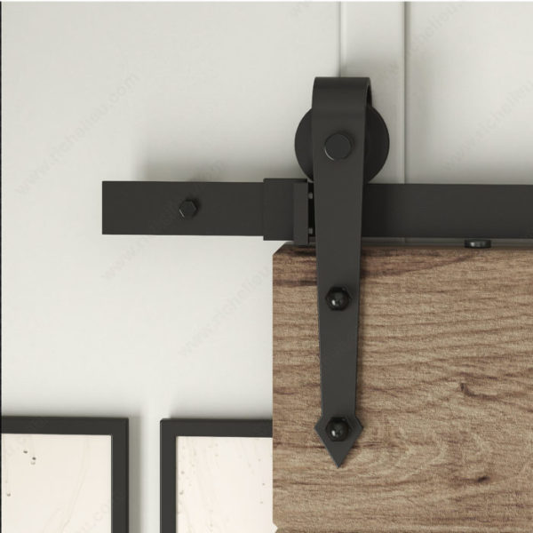 Prairie Barnwood The Arrow Barn Door Hanger Kit - Black - Product #- 24600890