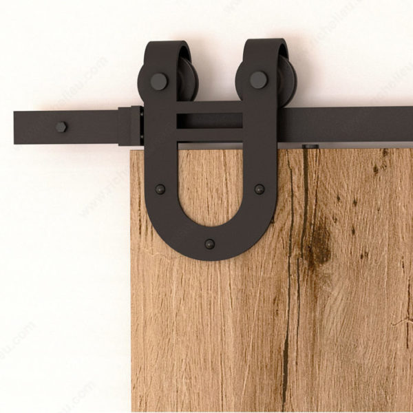 Prairie Barnwood The Cavalier Barn Door Set - Black - Product #- 24600790
