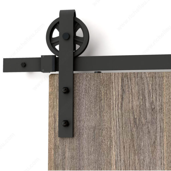 Prairie Barnwood Ferris Wheel Decorative Sliding Hardware - Black - Product #- 246020MATBC (3)