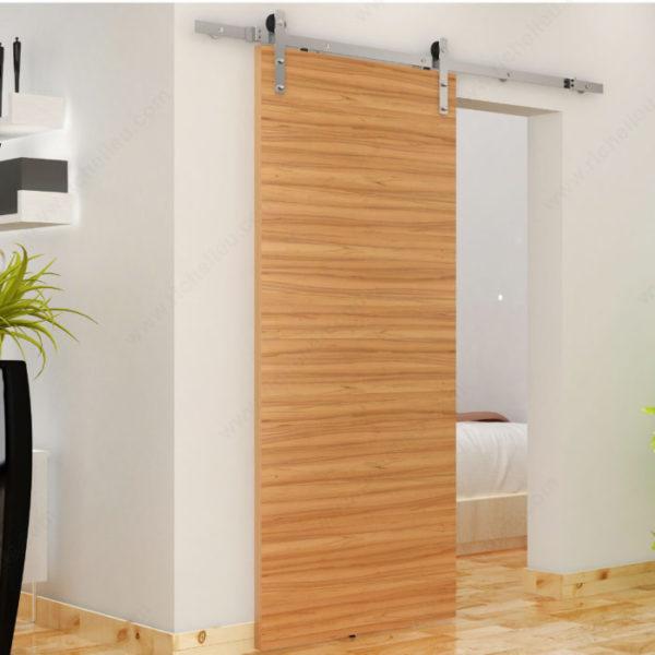Prairie Barnwood The Zenitude Contemporary Barn Door Set - Stainless - Product #- 246016170