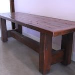 Rustic reclaimed barnwood bench
