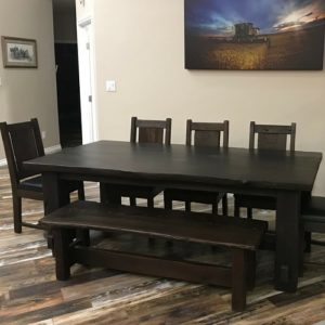 Rustic modern industrial dining furniture design
