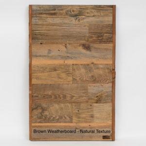 Prairie Barnwood Brown Weatherboard Sample