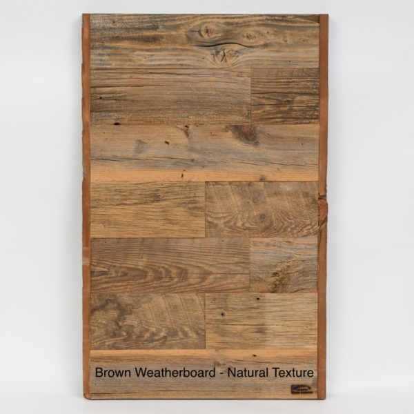 Prairie Barnwood Brown Weatherboard Sample