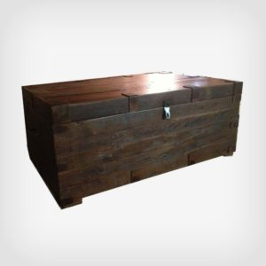Rustic storage chest hand crafted using reclaimed locally sourced barnwood