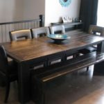 Modern Rustic Dining Furniture hand crafted in local manitoba