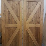 Rustic barn doors hand crafted with reclaimed barn wood