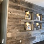 Reclaimed Grey Weathered Wood Accent Wall