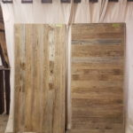 Rustic Barndoors hand crafted with reclaimed weathered brown wood